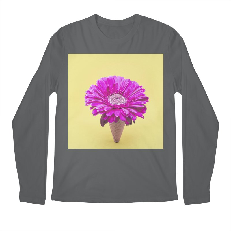 Flower Ice Cream Cone Men's Longsleeve T-Shirt by BrocoliArtprint