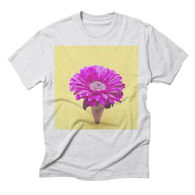 Flower Ice Cream Cone Men's T-Shirt by BrocoliArtprint