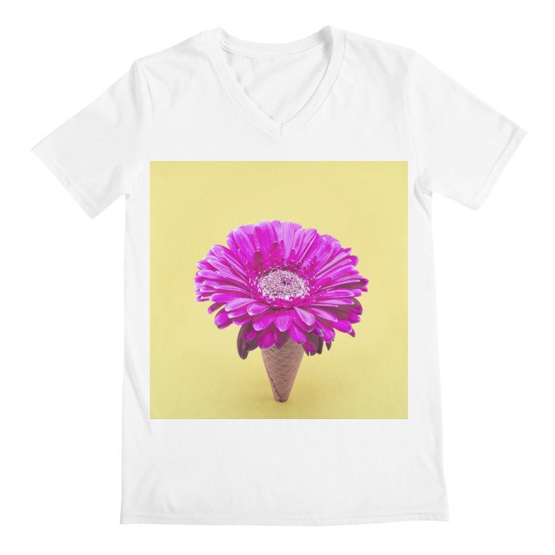 Flower Ice Cream Cone Men's V-Neck by BrocoliArtprint
