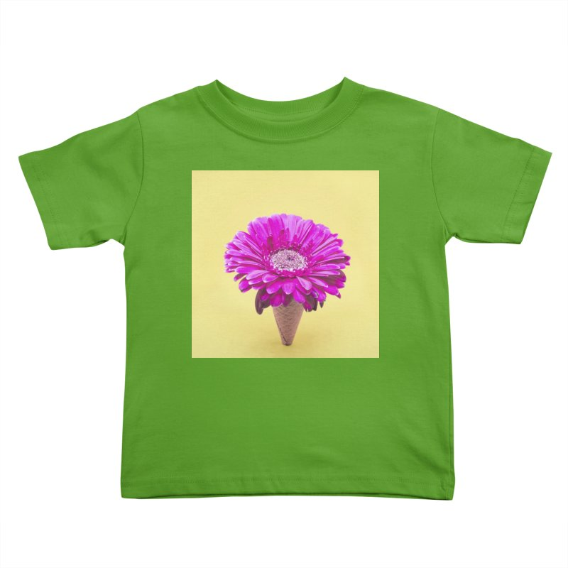 Flower Ice Cream Cone Kids Toddler T-Shirt by BrocoliArtprint