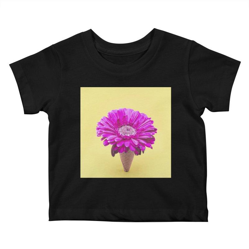 Flower Ice Cream Cone Kids Baby T-Shirt by BrocoliArtprint