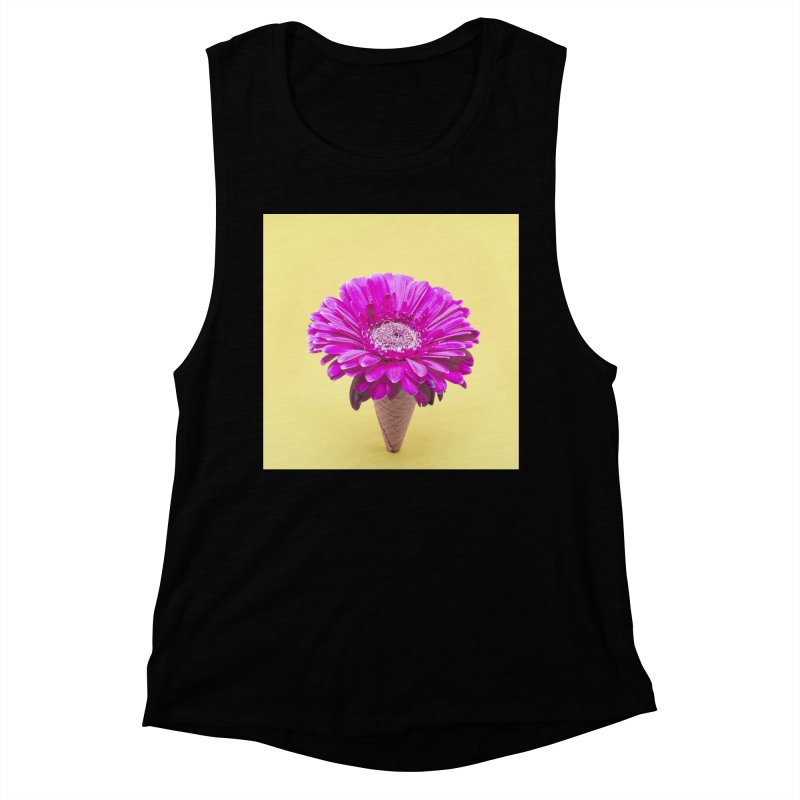 Flower Ice Cream Cone Women's Tank by BrocoliArtprint