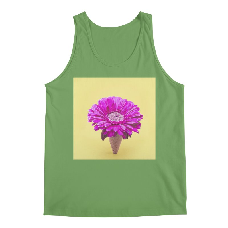 Flower Ice Cream Cone Men's Tank by BrocoliArtprint