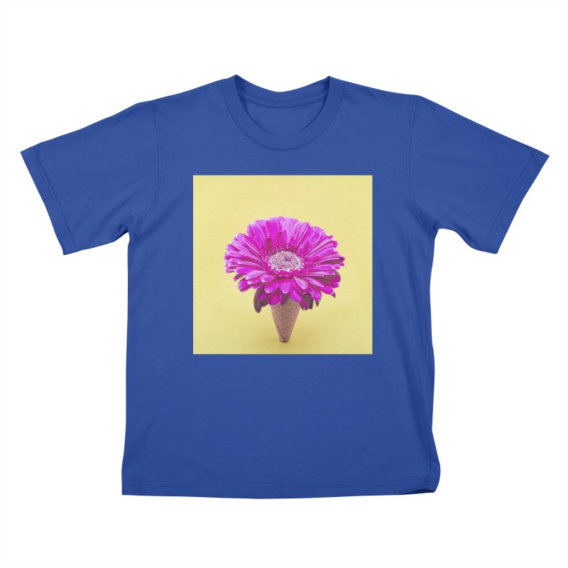 Flower Ice Cream Cone Kids T-Shirt by BrocoliArtprint