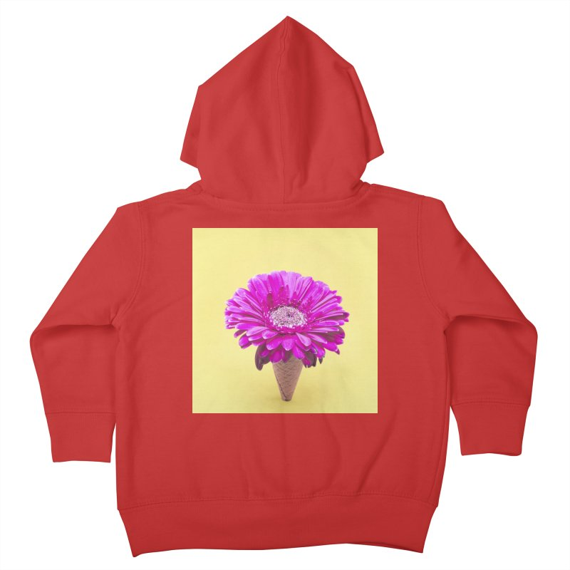 Flower Ice Cream Cone Kids Toddler Zip-Up Hoody by BrocoliArtprint
