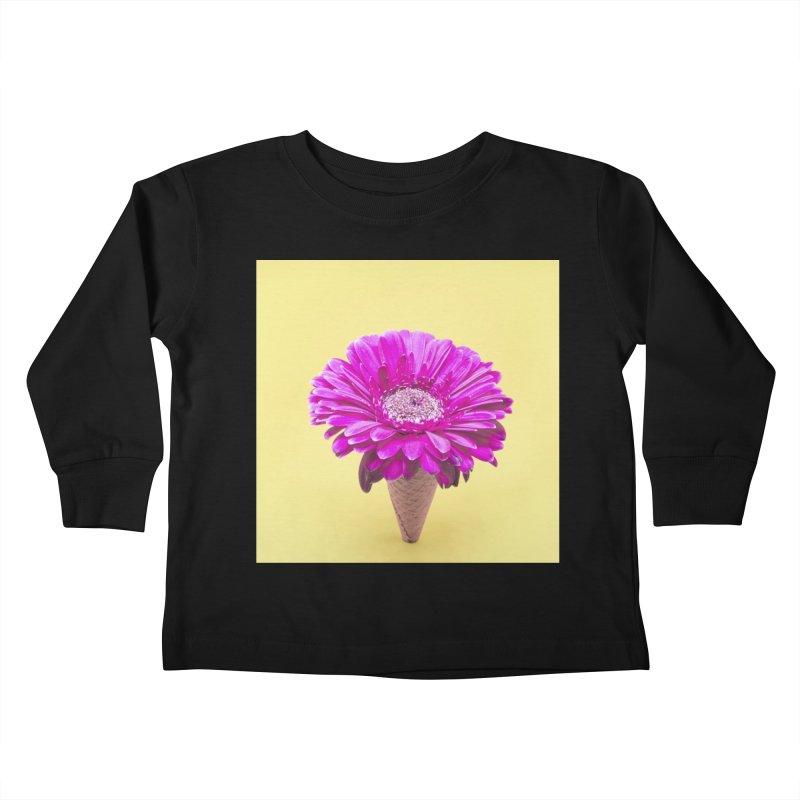 Flower Ice Cream Cone Kids Toddler Longsleeve T-Shirt by BrocoliArtprint