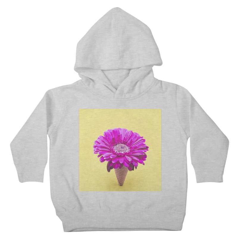 Flower Ice Cream Cone Kids Toddler Pullover Hoody by BrocoliArtprint