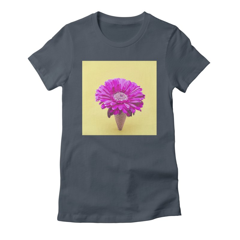Flower Ice Cream Cone Women's T-Shirt by BrocoliArtprint