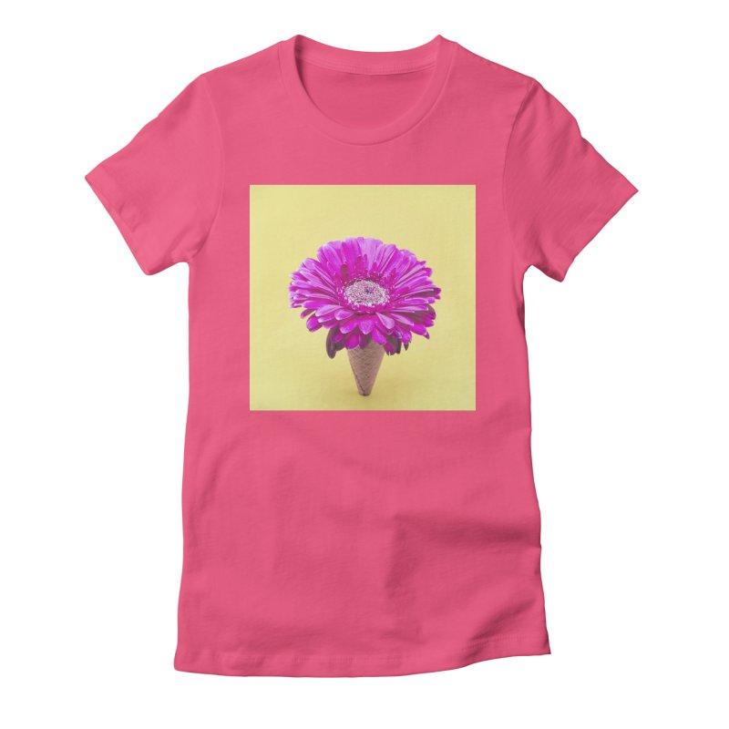 Flower Ice Cream Cone Women's T-Shirt by BrocoliArtprint