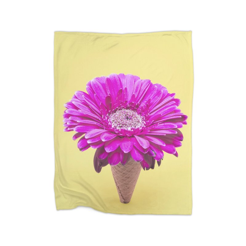 Flower Ice Cream Cone Home Blanket by BrocoliArtprint