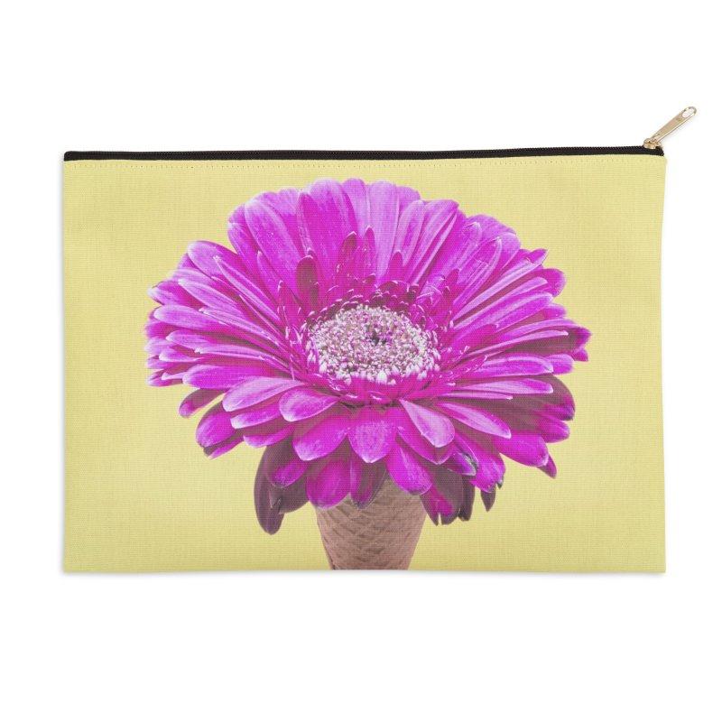 Flower Ice Cream Cone Accessories Zip Pouch by BrocoliArtprint