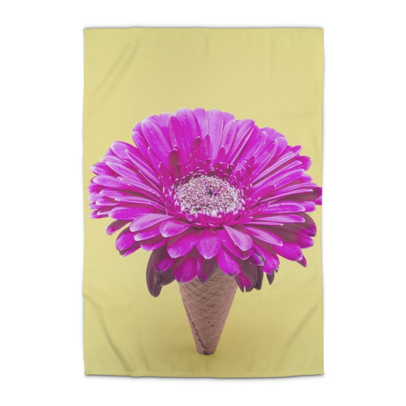Flower Ice Cream Cone Home Rug by BrocoliArtprint