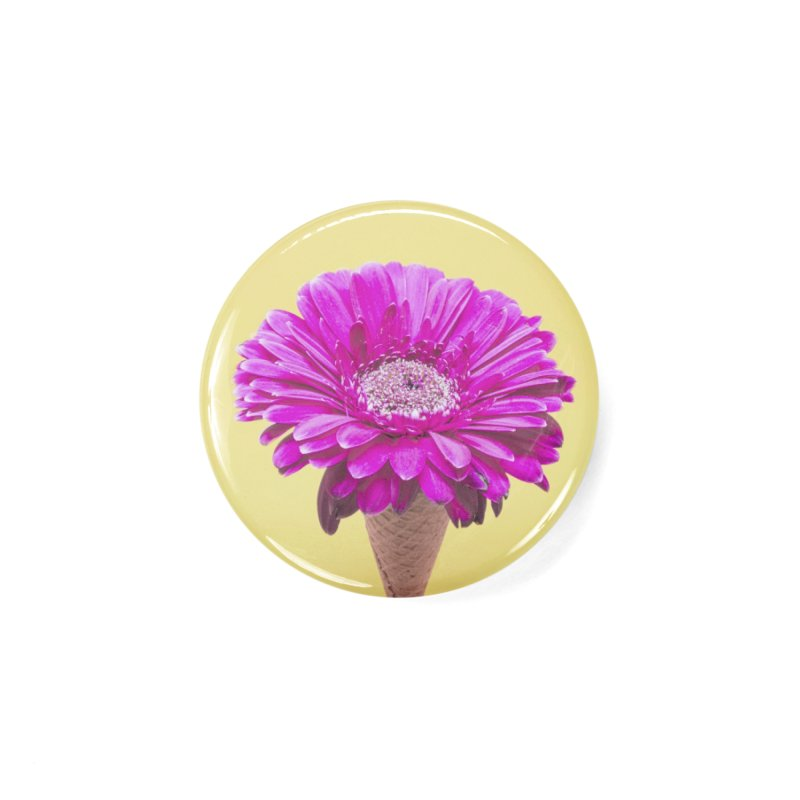 Flower Ice Cream Cone Accessories Button by BrocoliArtprint
