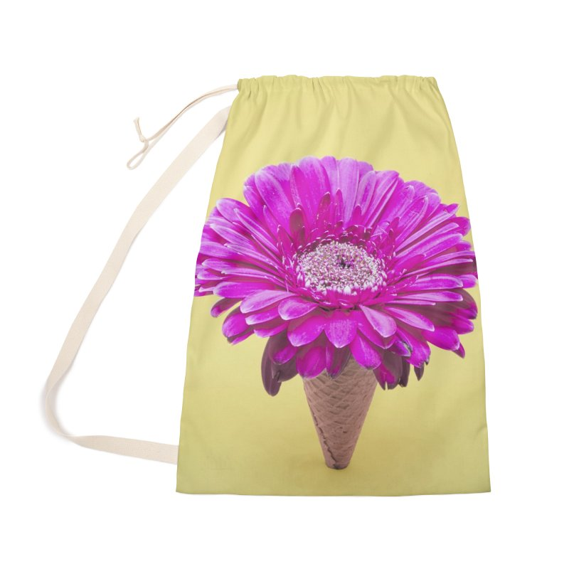 Flower Ice Cream Cone Accessories Bag by BrocoliArtprint