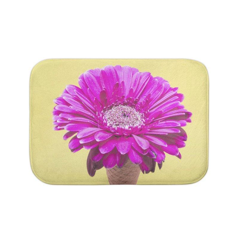 Flower Ice Cream Cone Home Bath Mat by BrocoliArtprint