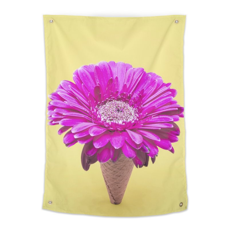 Flower Ice Cream Cone Home Tapestry by BrocoliArtprint