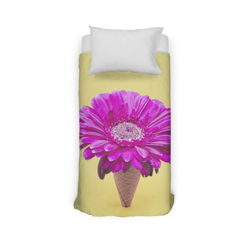 Flower Ice Cream Cone Home Duvet by BrocoliArtprint