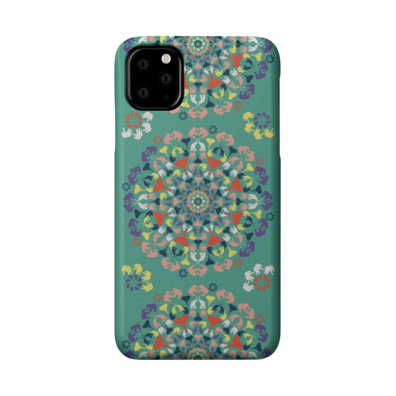 Mandala of Elephants 02. Accessories Phone Case by BrocoliArtprint