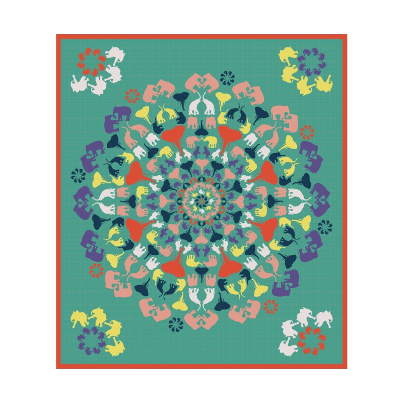 Mandala of Elephants 02. Accessories Button by BrocoliArtprint