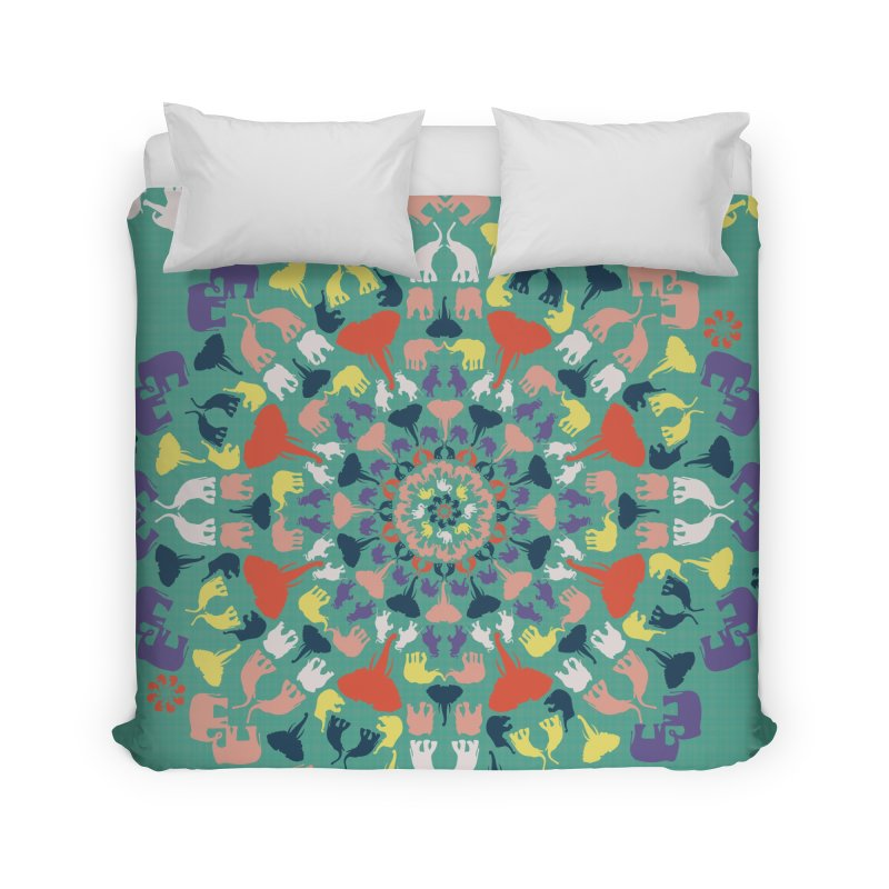 Mandala of Elephants 02. Home Duvet by BrocoliArtprint