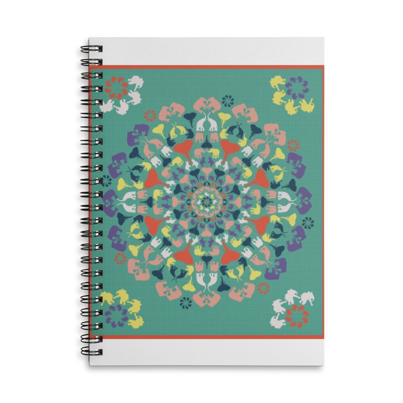 Mandala of Elephants 02. Accessories Notebook by BrocoliArtprint
