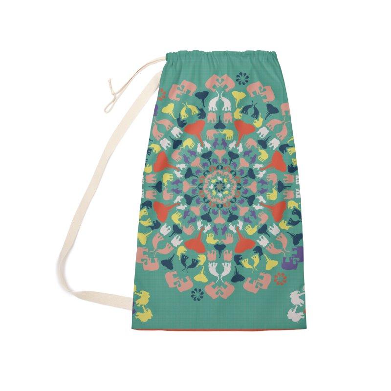 Mandala of Elephants 02. Accessories Bag by BrocoliArtprint