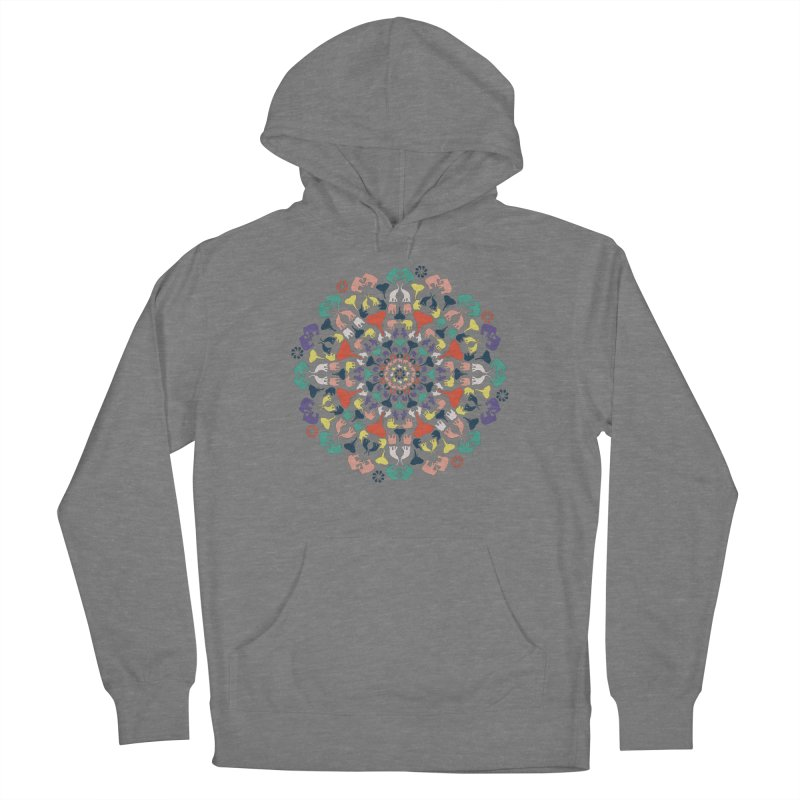 Mandala of Elephants 02. Women's Pullover Hoody by BrocoliArtprint