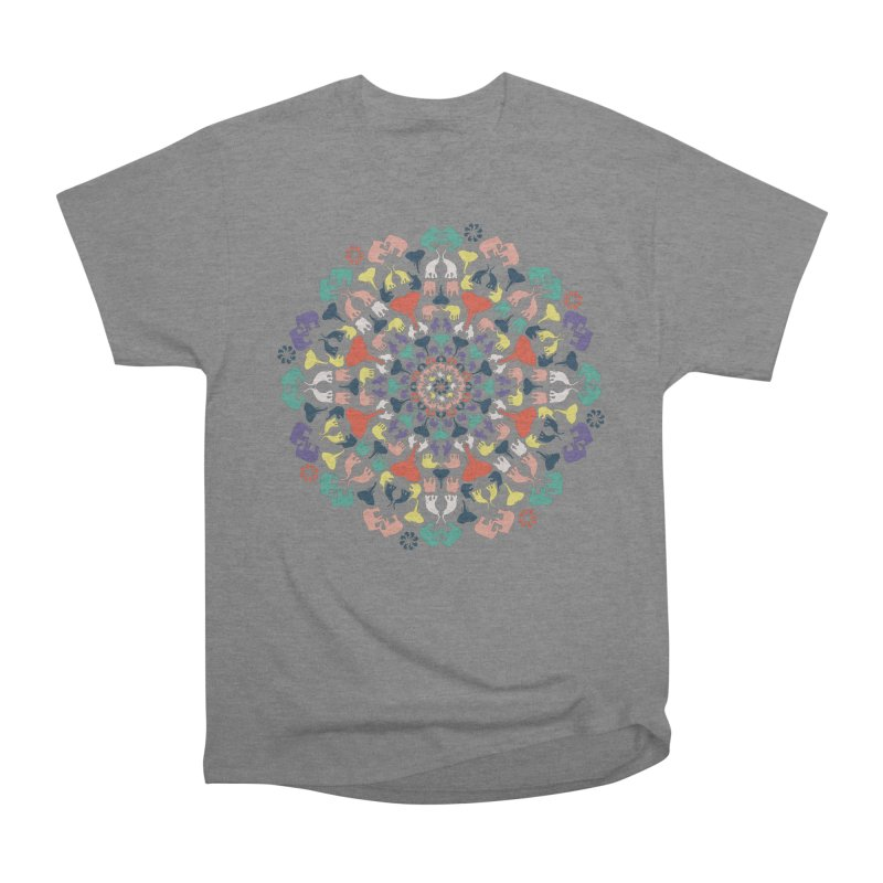 Mandala of Elephants 02. Men's T-Shirt by BrocoliArtprint