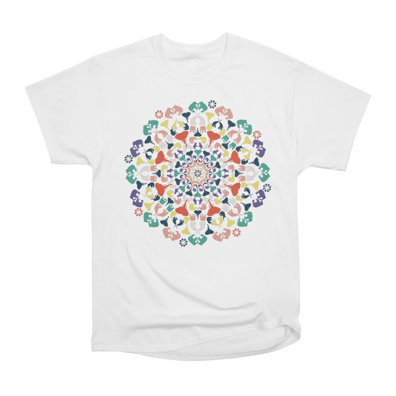 Mandala of Elephants 02. Women's T-Shirt by BrocoliArtprint