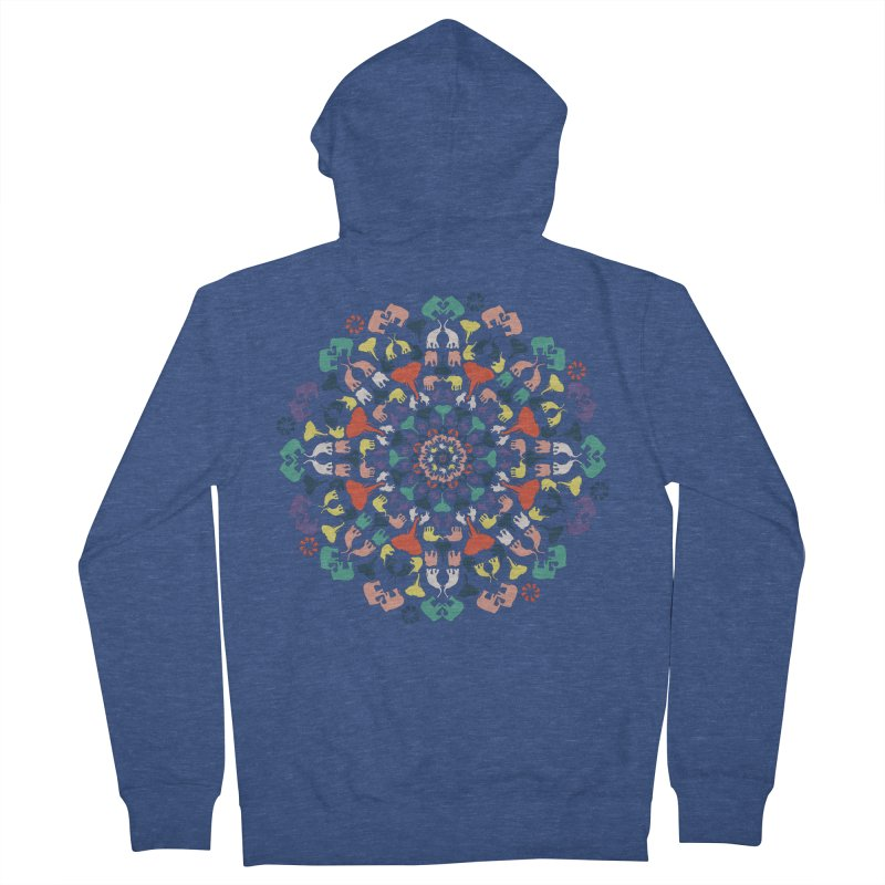 Mandala of Elephants 02. Men's Zip-Up Hoody by BrocoliArtprint