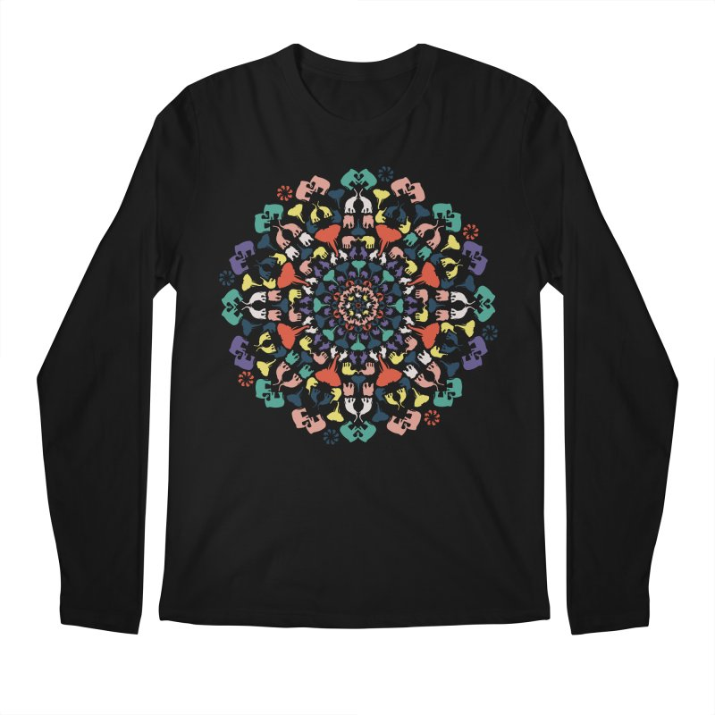 Mandala of Elephants 02. Men's Longsleeve T-Shirt by BrocoliArtprint