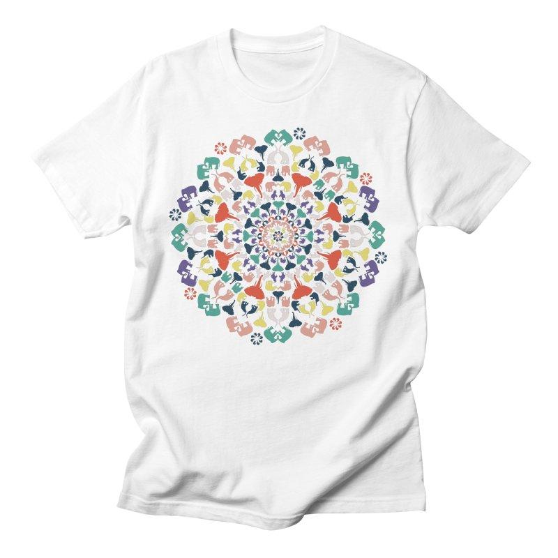 Mandala of Elephants 02. Men's T-Shirt by BrocoliArtprint