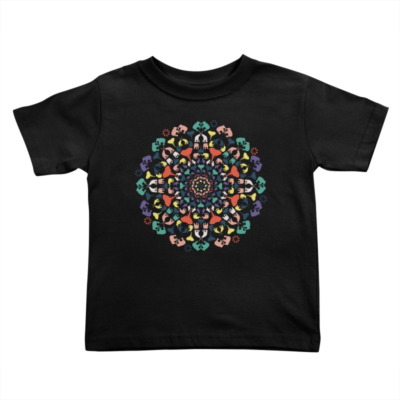 Mandala of Elephants 02. Kids Toddler T-Shirt by BrocoliArtprint