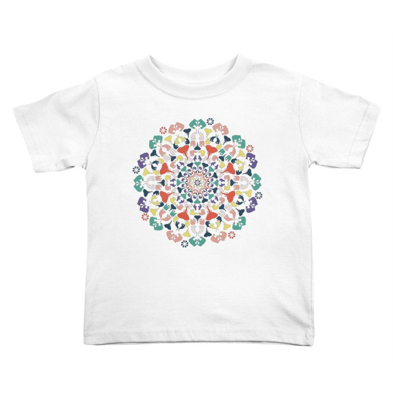 Mandala of Elephants 02. Kids Toddler T-Shirt by BrocoliArtprint