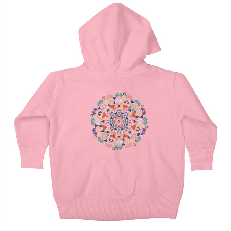 Mandala of Elephants 02. Kids Baby Zip-Up Hoody by BrocoliArtprint