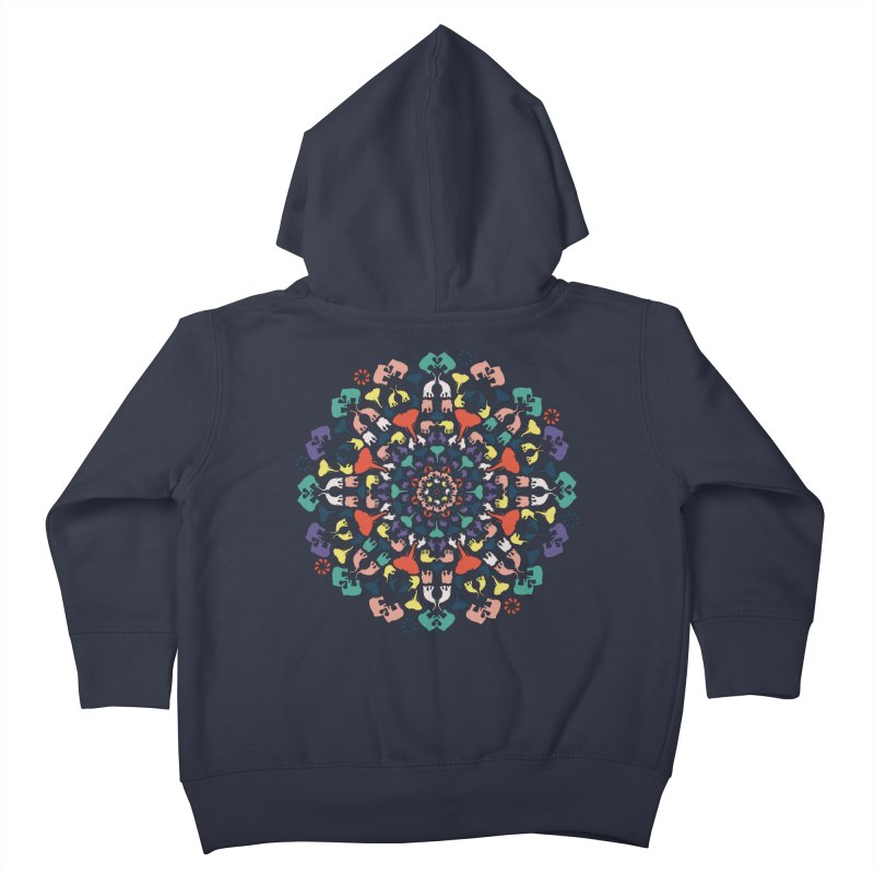 Mandala of Elephants 02. Kids Toddler Zip-Up Hoody by BrocoliArtprint