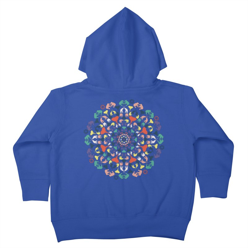Mandala of Elephants 02. Kids Toddler Zip-Up Hoody by BrocoliArtprint