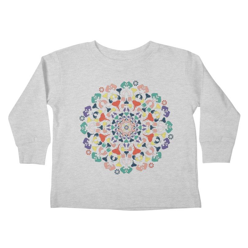 Mandala of Elephants 02. Kids Toddler Longsleeve T-Shirt by BrocoliArtprint