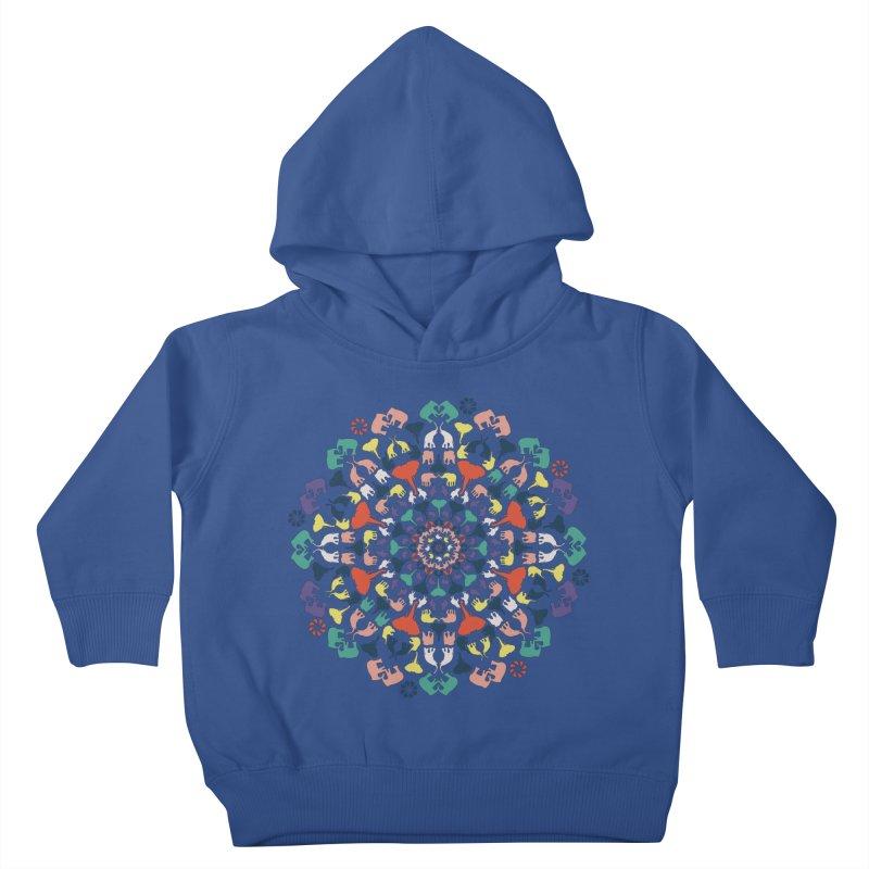 Mandala of Elephants 02. Kids Toddler Pullover Hoody by BrocoliArtprint