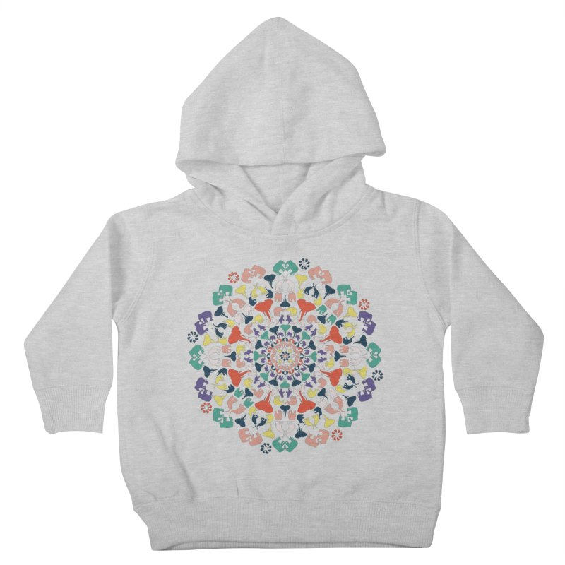 Mandala of Elephants 02. Kids Toddler Pullover Hoody by BrocoliArtprint