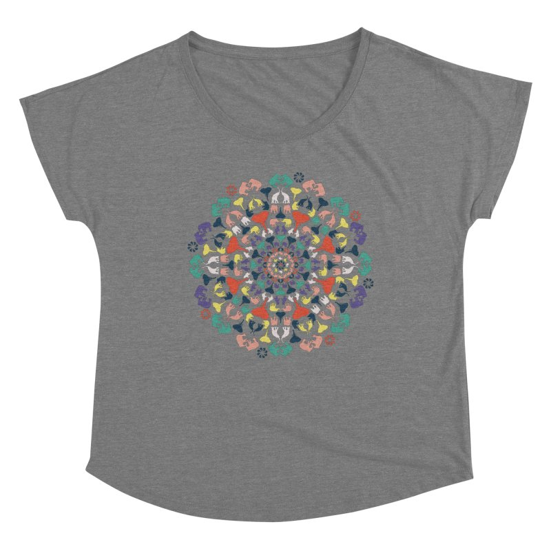Mandala of Elephants 02. Women's Scoop Neck by BrocoliArtprint