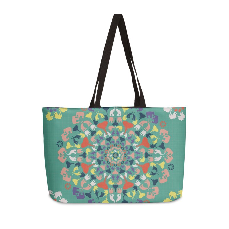 Mandala of Elephants 02. Accessories Bag by BrocoliArtprint