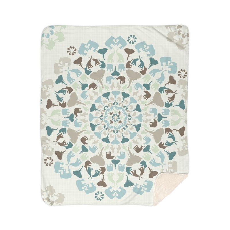 Mandala of Elephants 01. Home Blanket by BrocoliArtprint