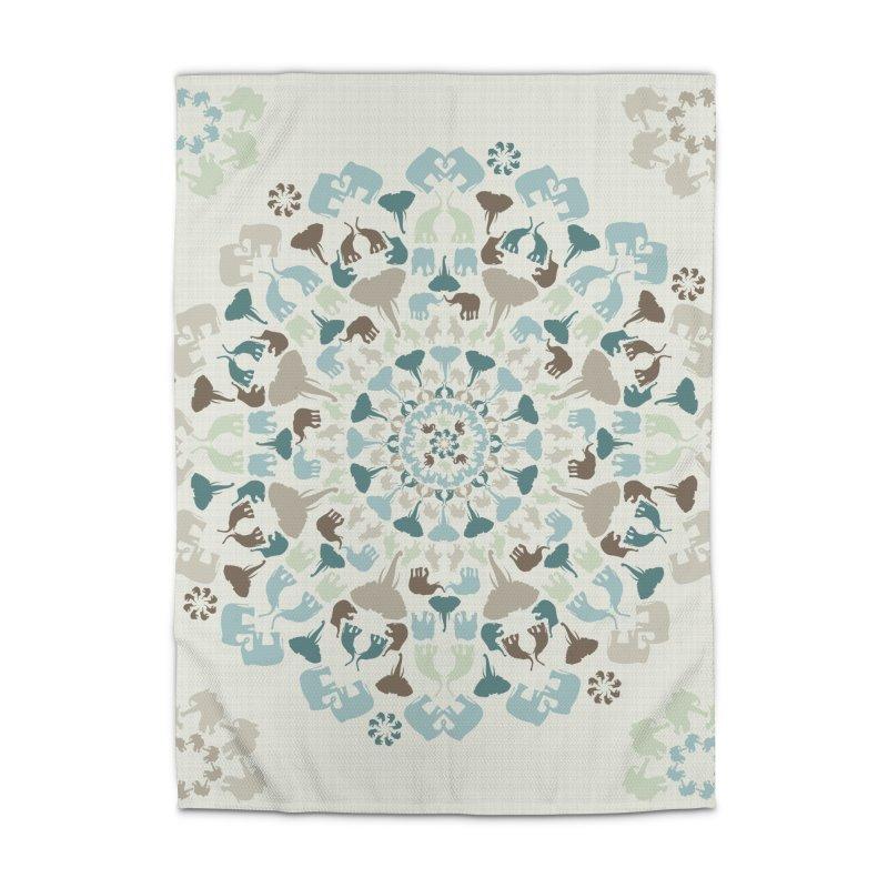 Mandala of Elephants 01. Home Rug by BrocoliArtprint