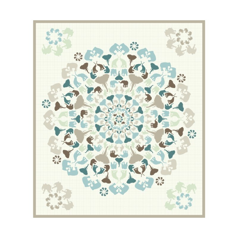 Mandala of Elephants 01. Accessories Beach Towel by BrocoliArtprint