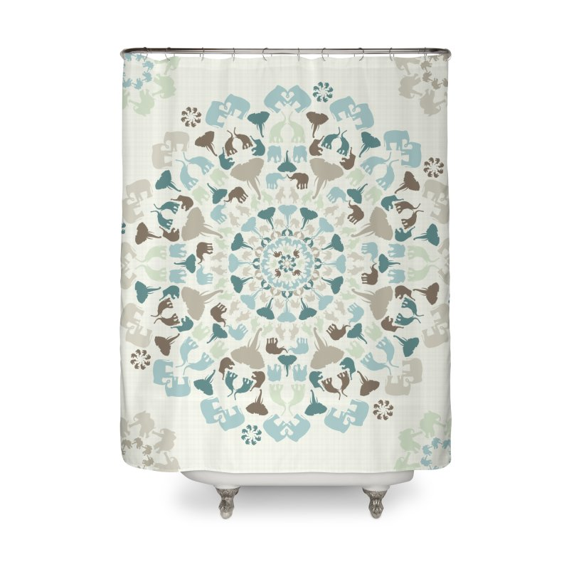 Mandala of Elephants 01. Home Shower Curtain by BrocoliArtprint