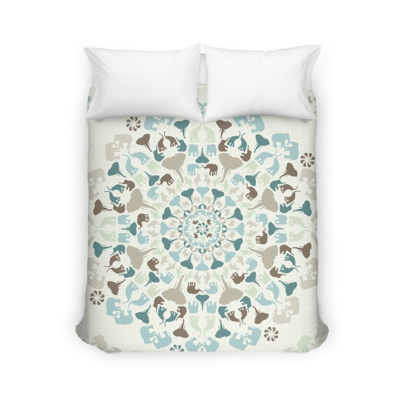 Mandala of Elephants 01. Home Duvet by BrocoliArtprint