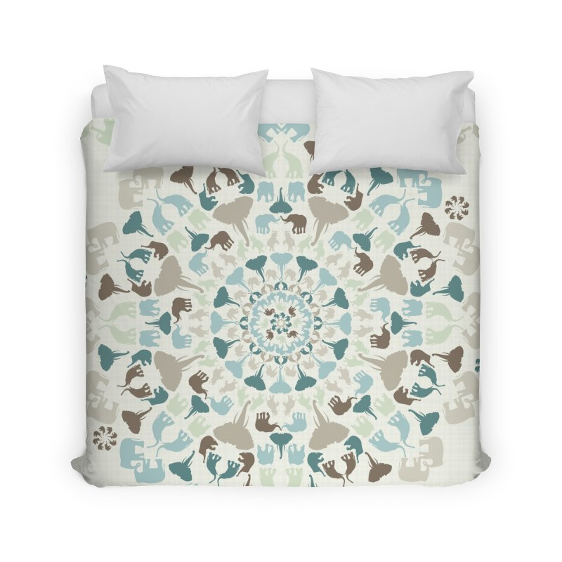 Mandala of Elephants 01. Home Duvet by BrocoliArtprint