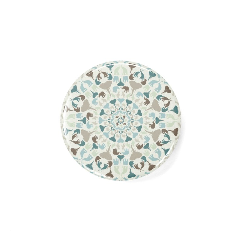 Mandala of Elephants 01. Accessories Button by BrocoliArtprint