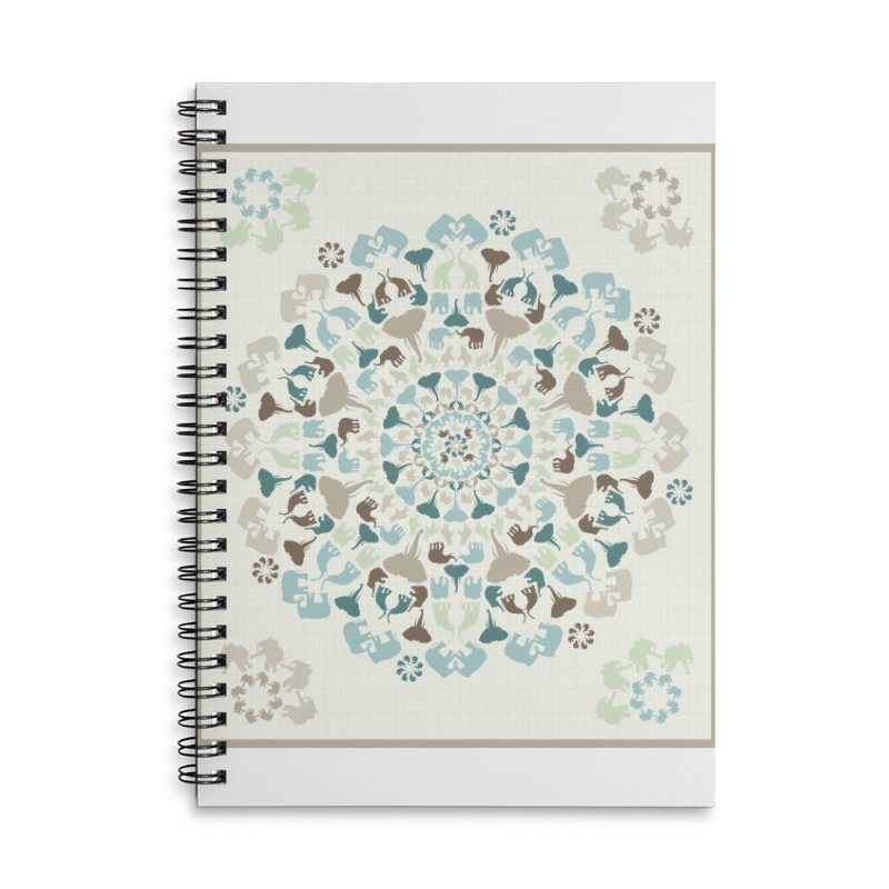 Mandala of Elephants 01. Accessories Notebook by BrocoliArtprint